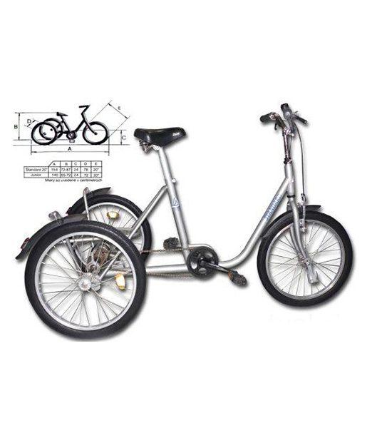 Trojkolesový invalidný bicykel Junior