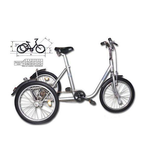 Trojkolesový invalidný bicykel Junior 1