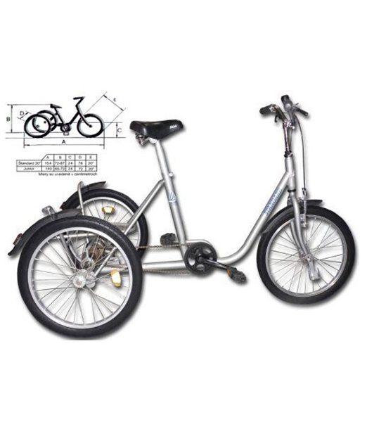 Trojkolesový bicykel Štandard